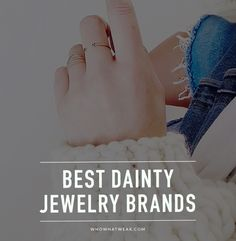 If you're a sucker for dainty, barely-there jewelry, you'll love these brands. // #Jewelry #Accessories