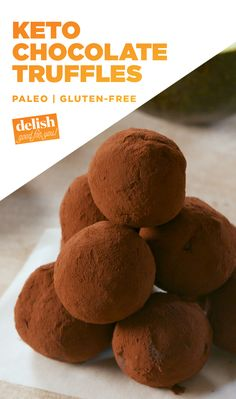 If you're on the Keto diet, you NEED to know about these fudgy truffles. Get the recipe at Delish.com. #keto #ketogenic #diet #chocolate #avocado #healthy #healthyrecipe #delish #easyrecipe #dessert #truffle