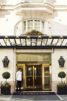 Le Bristol Hotel in Paris. I have actually had the great pleasure of staying here. Quite simply the BEST!