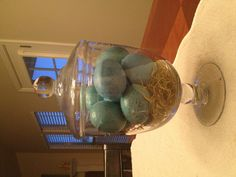 My simple robin egg centerpiece for Easter!!