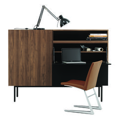 This walnut highboard has a drop-down shelf, making if the perfect secretary desk (http://theprov.in/18v22ja). Re-pin this image for a chance to win a $1,000 gift card to #BoConcept's Vancouver store. Click the image for entry form and rules or visit: http://theprov.in/BoContest