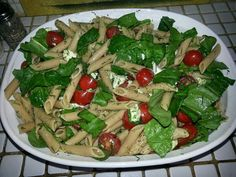 My Penne and Baby Spinach salad