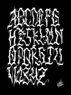 Tattoo Lettering Alphabet, Graffiti Lettering Fonts, Typography, Graffiti Tagging, Graffiti Art, Graffiti Wildstyle, Abc Font, Arte Lowrider, Horror Font