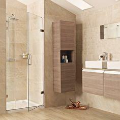 £401.63 Roman Liber8 Black 900mm Hinged Door with One In-Line Panel    Roman   Brands   Bathroom