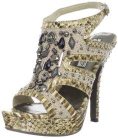 MyKinkyFoot.com - A Top Brand Shoe and Boot Store: Naughty Monkey Line: Naughty Monkey Womens Stardust Platform Sandal
