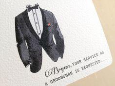 Groomsman Invitation Card