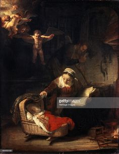 'The Holy Family', 1645. Rembrandt van Rhijn (1606-1669). Found in the collection of the State Hermitage, St. Petersburg.
