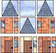 free paper piecing pattern for row house block