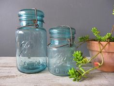 Vintage mason jars - Some very special ones belonged to my Daddy's oldest sister, my Aunt Faye Bishop Wages.