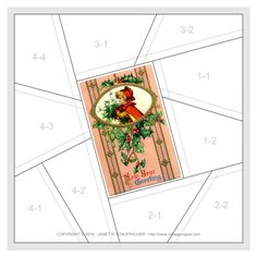 Nostalgic NeedleART: New Year Greeting Crazy Quilt Block from Vintage Vogue