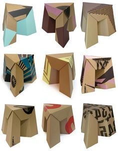 "Cardboard Furniture by Paper Tiger. They describe them as ""deceptively strong.""    Genius!"