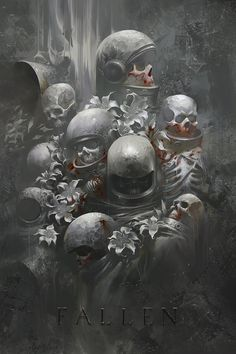 Fallen Astronaut by SeanSoong..... This makes me think of Doctor Who, specifically the Vashta Nerada.