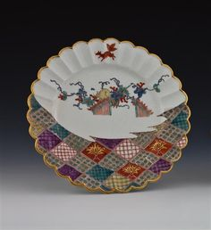 Plate made by Meissen, 1740.