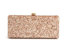 rose gold deux lux glitter clutch
