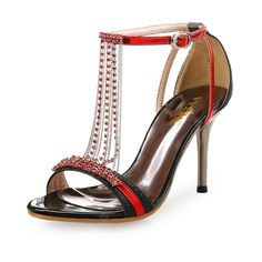 3811d3d5e2c1ef High Heel Stiletto Sexy Open Toe Rhinestone Sandals