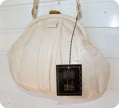 Vintage STUDIO PARIS Tasche Leder Schultertasche Bag Handtasche Schlangen Snake…