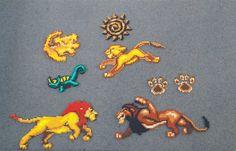 Lion King Set - Hama beads perler by pixelarts0.deviantart.com on @DeviantArt
