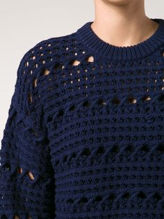 Proenza Schouler cropped chunky knit jumper