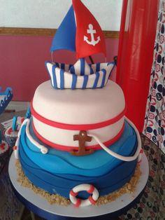 tortas para baby shower de marinero3