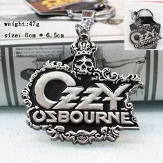 Rock Band Black Sabbath Ozzy Osbourne Metal Keychain Key Chain Key Ring Celebs 80's msc tattoo bat album