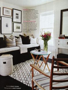 Guest Room inspy as seen in @House & Home September 2012 - Living Large in SM Spaces                                                                                                                                                      More