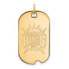 14ky NBA LogoArt Sacramento Kings Large Dog Tag