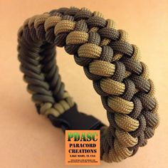 PDASC's FDE Sanctified bracelet in different light and background. ••• Colors used are Coyote and Olive Drab. #SanctifedParacordBracelet #paracord #PDASC #FDE