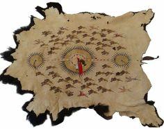Michael McLead - Buffalo Hunt Painted Buffalo Robe $2,817.00