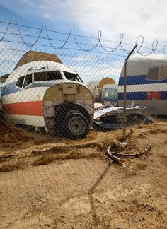 The Mojave Desert's airplane graveyard