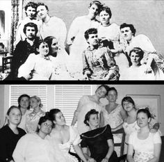 In honor of Founders Day ~ Alpha Xi Deltas recreated their picture!