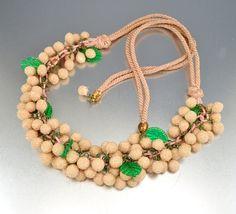 25 OFF Celluloid Art Deco Necklace Sugar Glass Beads by boylerpf, $60.00