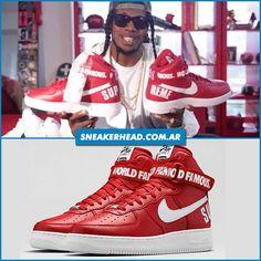 Las Nike Air Force 1 x Supreme red son uno de los pares favoritos de Trinidad James Qué te parecen a vos?