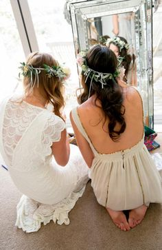 wedding dress inspiration #flowercrown #wedding