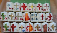 Faith Crafts, Make An Effort, Flower Oil, Easter, Holiday Decor, Memorial Candles, Glow, Lights, Decorated Candles