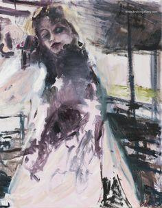 "Artist Olga Gorokhova ""Morning beauty"" oil painting on canvas. Oil Painting On Canvas, Moscow, Contemporary Art, Art Gallery, Purple, Artist, Beauty, Art Museum, Artists"