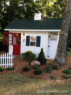 OMG! Sooo cute AND functional! All details were found at garage or estate sales! I want to do this! A Teacher's Dream Garden Shed