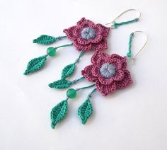 63f72c812a5 Items similar to MADE to ORDER - CUSTOMIZABLE - Nymph - Cotton yarn Crochet  Earrings