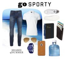 """Shades of Summer - go Sporting - 01"" by makesmefashionable on Polyvore featuring Barclay Butera, Scotch & Soda, Armani Jeans, Converse, Jivago, Ray-Ban, Dot & Bo, Dolce&Gabbana, Moshi and men's fashion"