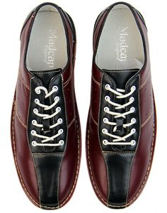 Madcap England Men's Bowling Shoes in burgundy/black. Retro mod Northern Soul bowling shoes with tunit sole for the dancefloor! Home Bowling Alley, Famous Sports, Bowling Shoes, Old Shoes, 60s Mod, Britpop, Northern Soul, Sports Shoes, Black Heels