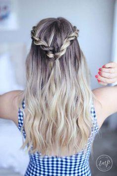 wedding hairstyles easy hairstyles hairstyles for school hairstyles diy hairstyles for round faces p Easy Work Hairstyles, Lazy Girl Hairstyles, Cute Hairstyles For Teens, Twist Hairstyles, Simple Hairstyles For School, Wedding Hairstyles, Summer Hairstyles For Medium Hair, Ponytail Hairstyles, Hairstyles Haircuts