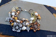 Layers Bracelet~ Vintage Rhinestone finds, Pearls and More!!