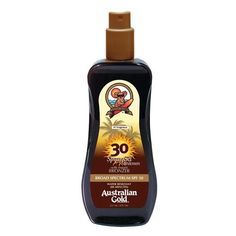 Australian Gold SPF 30 Spray Gel with Bronzer -- Click image for more details.