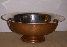 Antique #george gebelein boston arts and crafts hand #hammered copper bowl #signe,  View more on the LINK: http://www.zeppy.io/product/gb/2/201601487861/