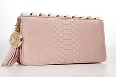 Victor Hugo - clutch rosa antigo. Linda!