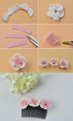 Wanna this flower comb? LC.Pandahall.com will publish the tutorial and you can make it with following it.