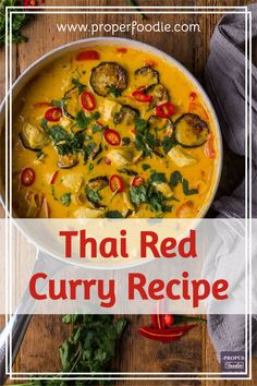 A creamy and full flavoured Thai red curry recipe with tender chunks of chicken and oven roasted veggies. Make this simple Thai red curry in just 30 minutes and for a boost of flavour try it with homemade Thai red curry paste. Thai Red Chicken Curry, Thai Red Curry, Roasted Veggies In Oven, Thai Curry Recipes, Full Fat Yogurt, Paste Recipe, Red Curry Paste, Thai Cooking, Great Recipes