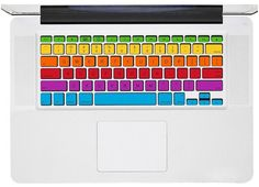 Rainbow Macbook Keyboard Decal  Macbook Pro by PerfectDecal, $11.88