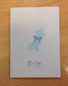 It's A Boy card by WithlovefromJosie on Etsy, £2.50