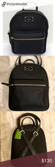 8ef5203ac460 NTW kate spade bradley wilson road black backpack Adorable backpack. Big  enough to hold all