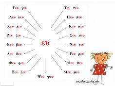 ΚΑΡΤΕΛΕΣ ΑΝΑΓΝΩΣΗΣ Β ΜΕΡΟΣ Learn Greek, Greek Language, Special Education, Lettering, Learning, School, Greek, Studying, Drawing Letters
